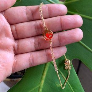 Gold Smiley Bracelet